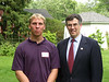 Congressman Holt home reception for USNA , June 2001 :
