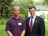 Congressman Holt home reception for USNA , June 2001 :