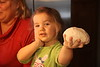 Pizza Making Party, Feb 28, 2015, Dad Bruhn's pizza oven. Brayden and Avery making her first pies! :